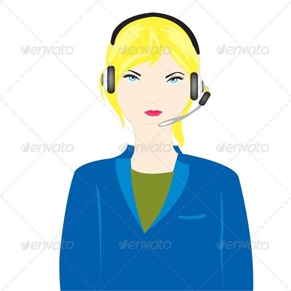 Girl operator - People Characters