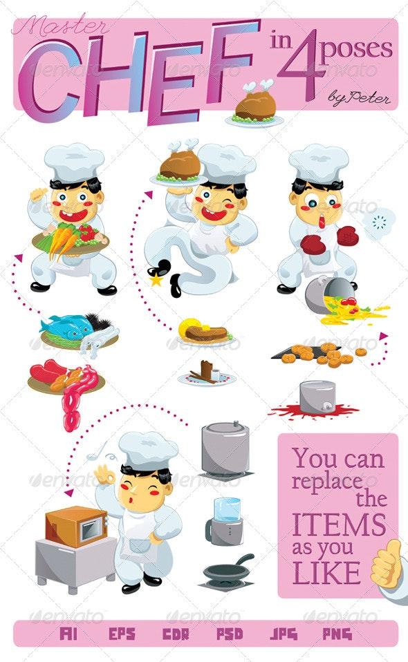 Master Chef - Characters Vectors