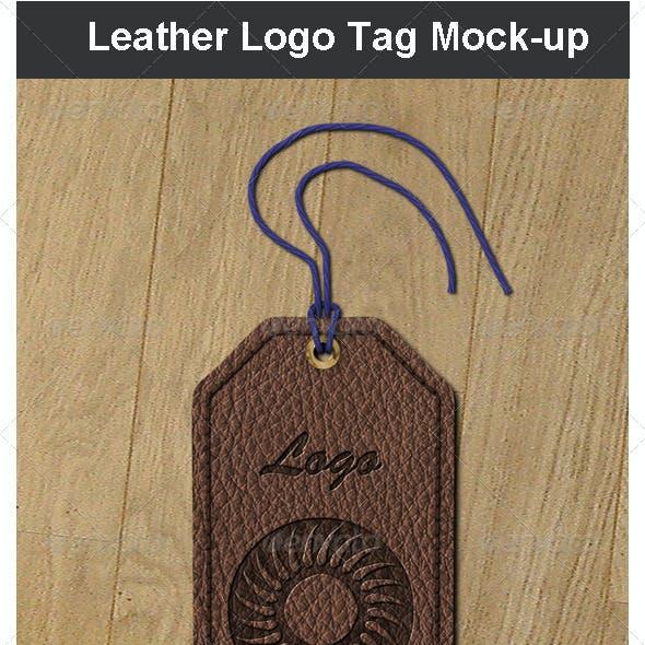 Leather Logo Tag Mock-up