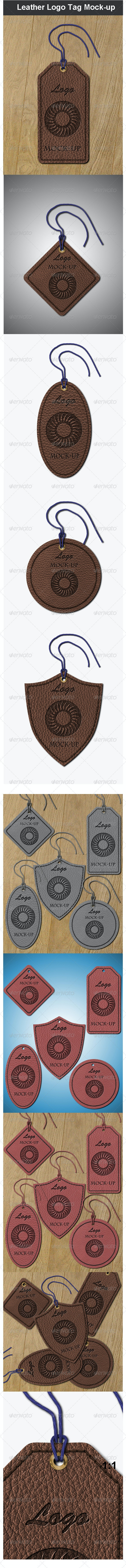 leather logo tag mock up by maxtecb graphicriver https graphicriver net item leather logo tag mockup 3774053