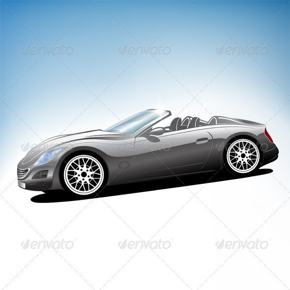 Grey Sports Car - Man-made Objects Objects