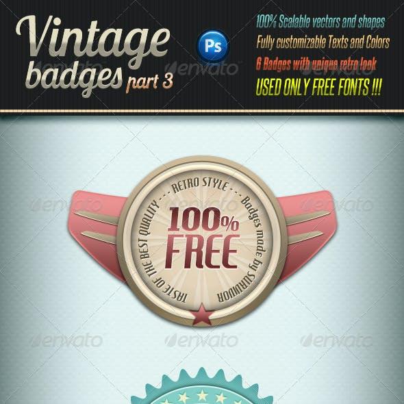 Retro Vintage Badges - Part 3