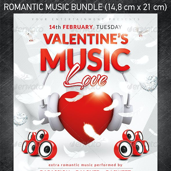 Romantic Music Flyer Bundle