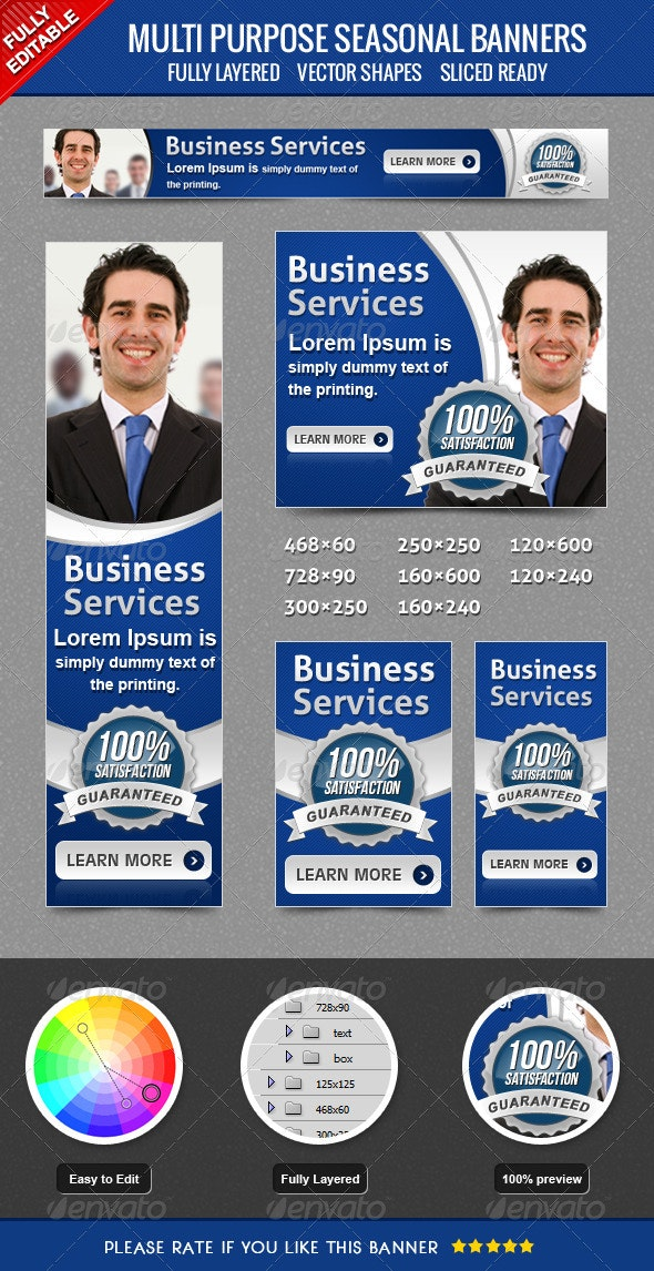 Business Banner - Banners & Ads Web Elements