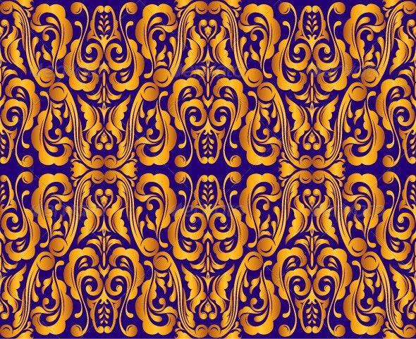 Vintage Seamless Golden Pattern - Patterns Decorative