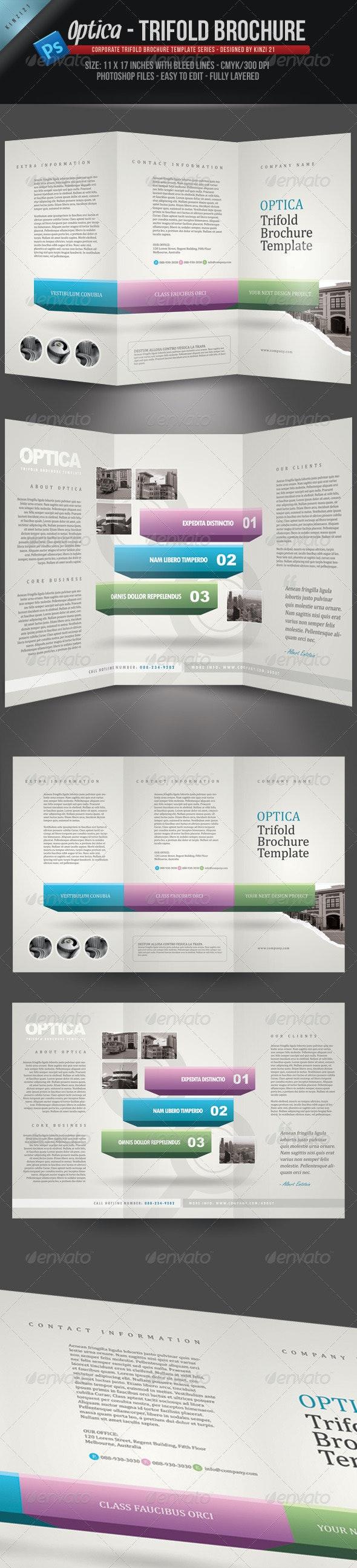Optica Trifold Brochure Template - Corporate Brochures