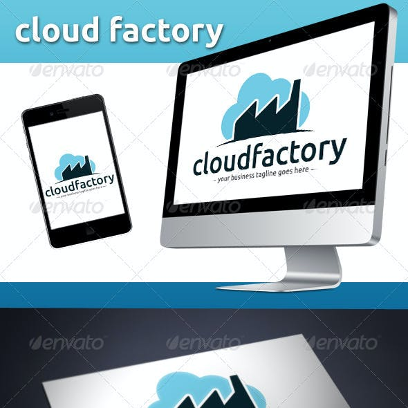 Cloud Factory Logo Template
