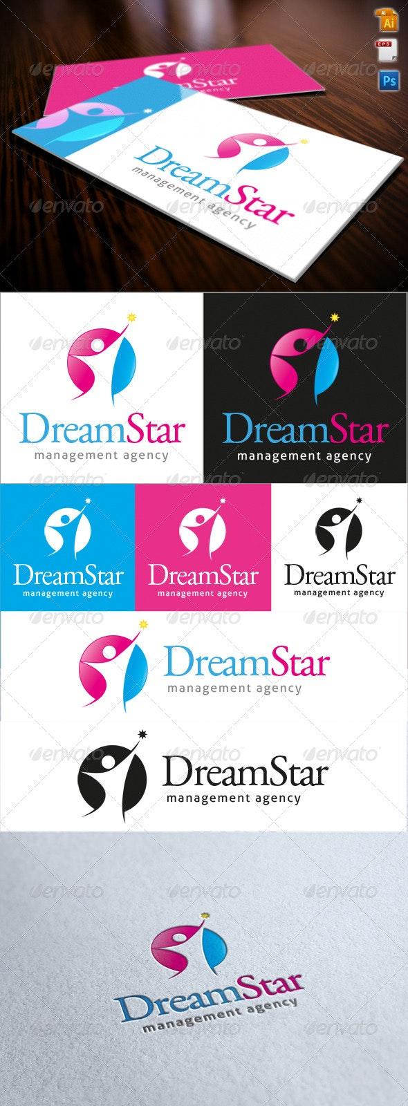 Dream Star Logo - Humans Logo Templates