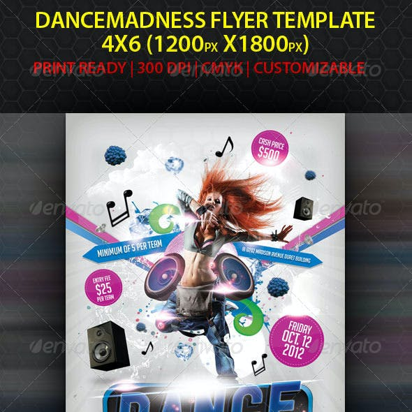 Dance Madness Flyer