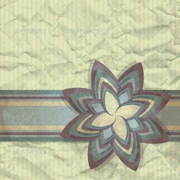 Paper Flower - Backgrounds Decorative