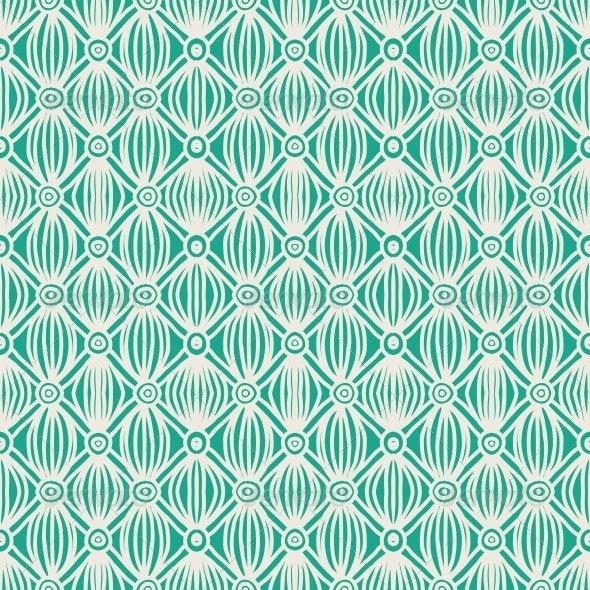 Linear Green Tribal Seamless Pattern - Patterns Decorative