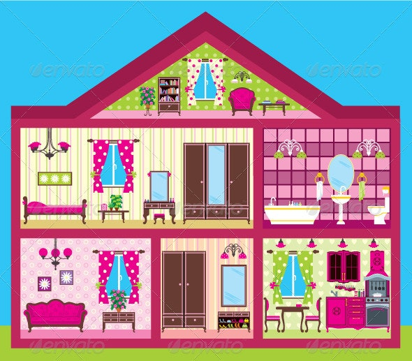 Girl's House - Buildings Objects