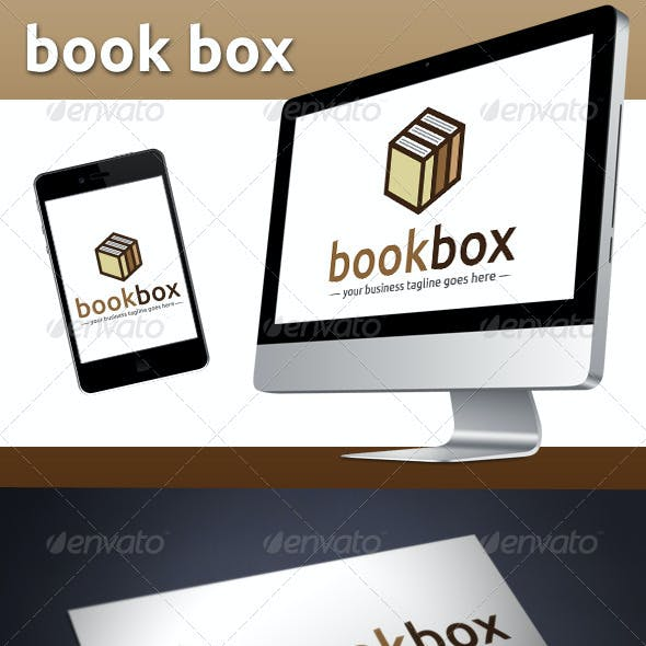 Book Store Logo Template (Book Cube)