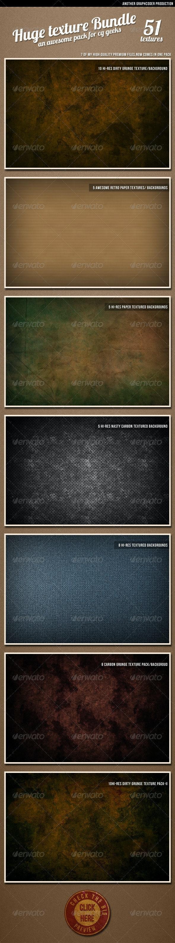Mega Texture Bundle (a set of 51) - Industrial / Grunge Textures