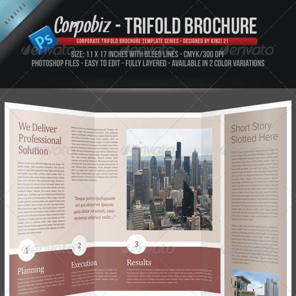 Corpobiz Trifold Brochure - PSD Template