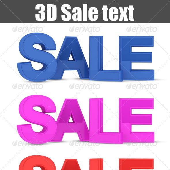 Sale Text 3D
