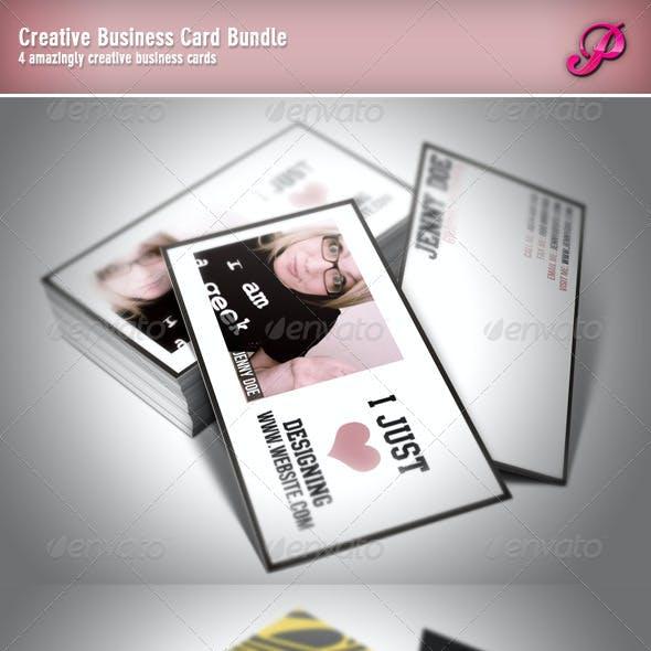 Creative Business Card Bundle (4 Cards)
