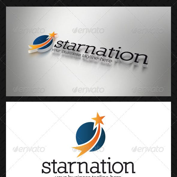 Star Circle Logo Template