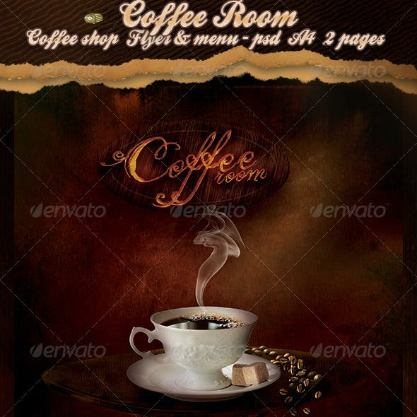 Coffee Room - Coffee Shop Flyer & Menu