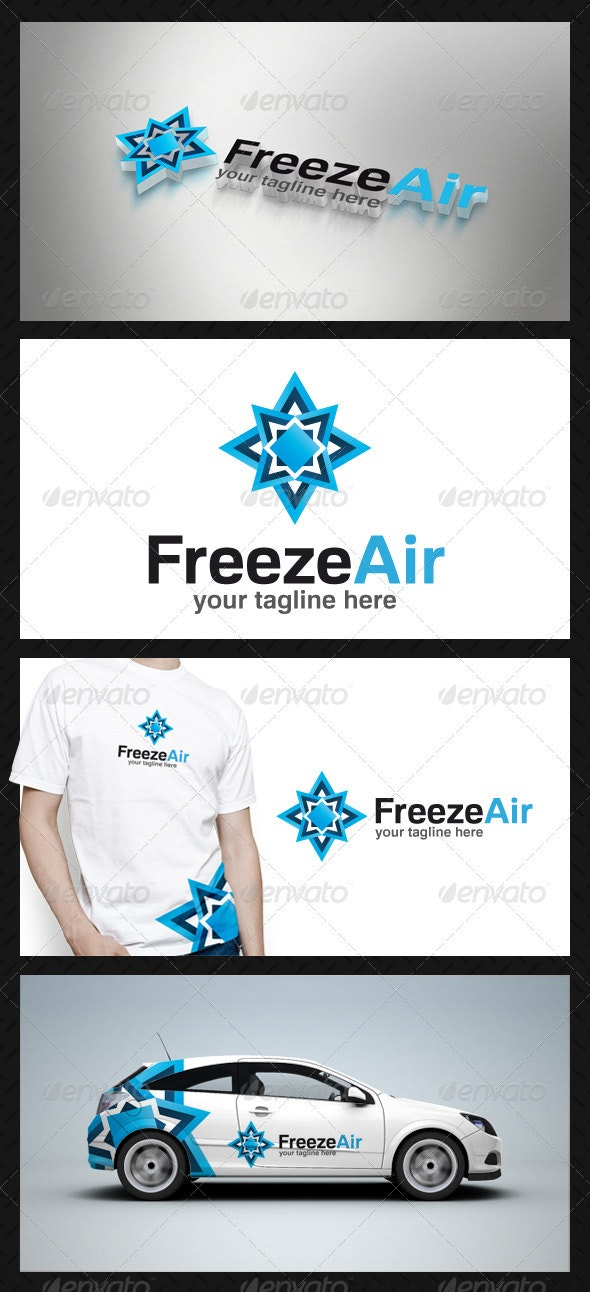 Freeze Air Logo Template - Vector Abstract