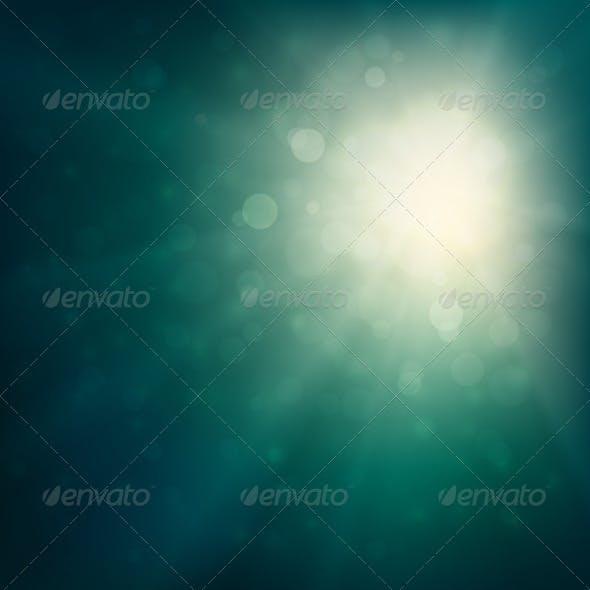 Green Defocused Lights Background