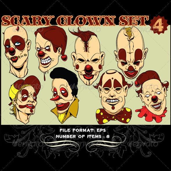 Clowns Vector Set 4 - Vectors