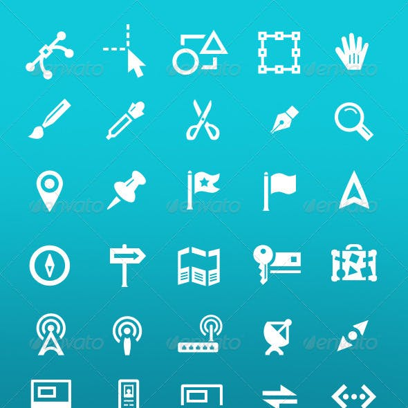 Random Vector Icon Set