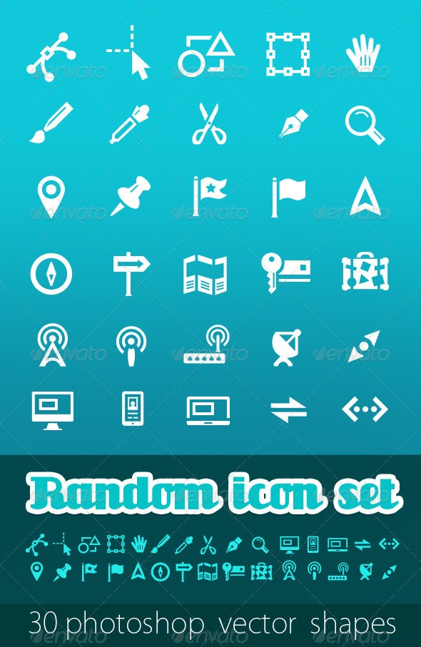 Random Vector Icon Set - Web Icons