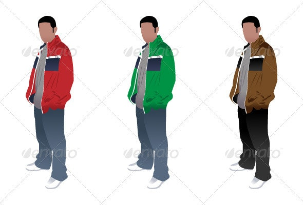 Hip Vector Male Figure - People Characters