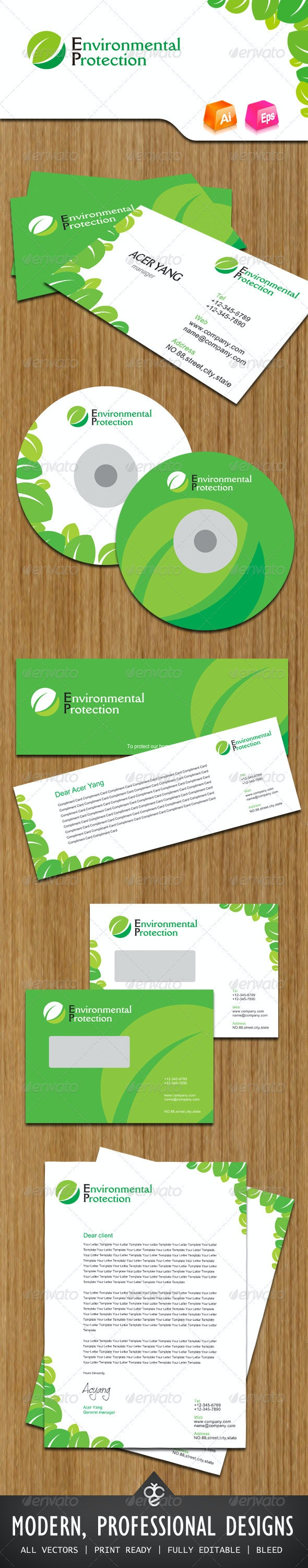 Environmenta Protection Corporate Identity - Stationery Print Templates