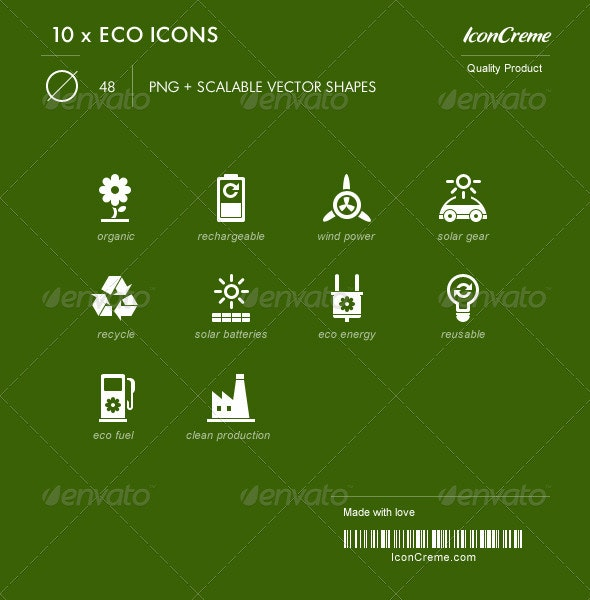 Ecological icon set - Miscellaneous Characters