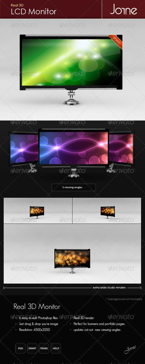Real 3D LCD Monitor - TV Displays