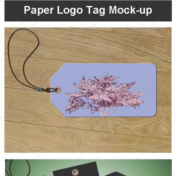 Paper Logo Tag Mock-up