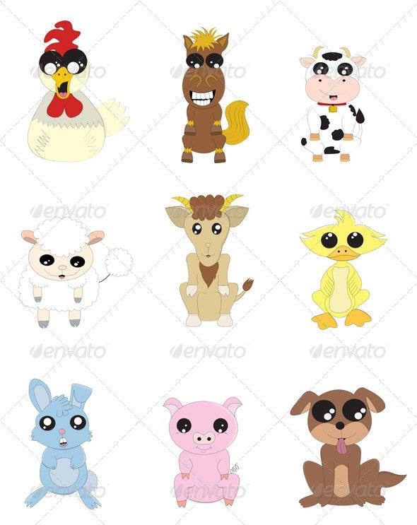 Animal Farm - Characters Vectors