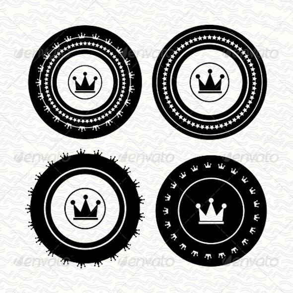Vintage retro empty labels | badges | stamps. Vect
