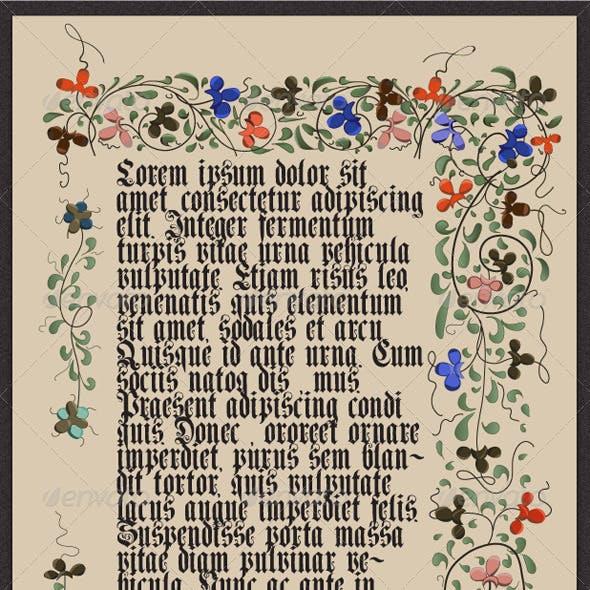 Medieval Illuminated Page