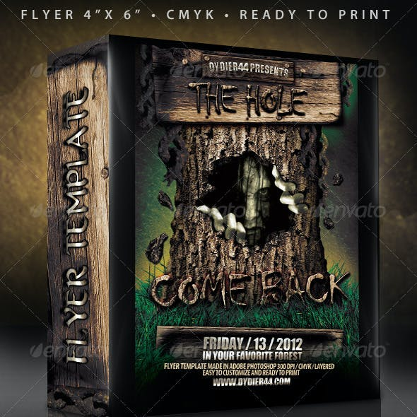 Scary Flyer Template (Flyer Template 4x6)