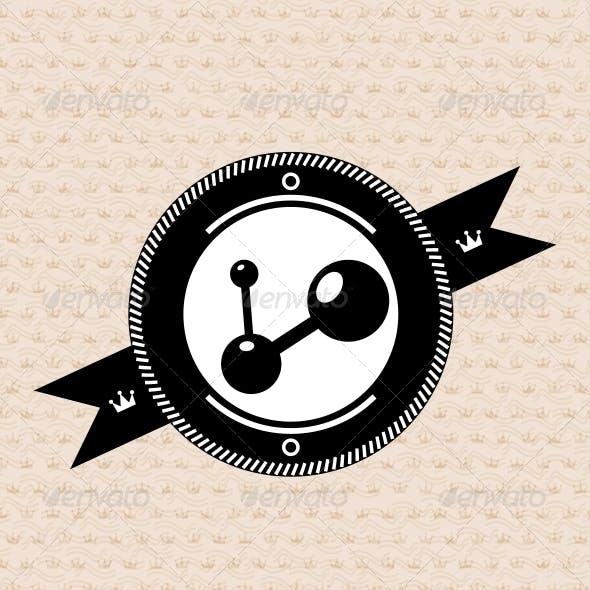 Vintage retro label | tag | badge : social connect