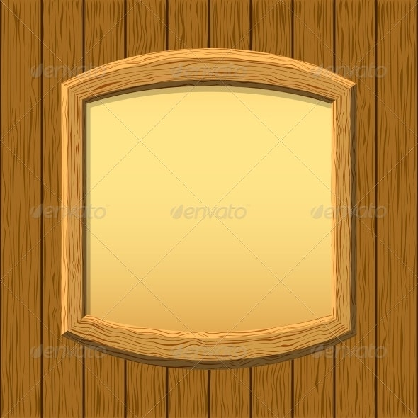 Wooden Framework on a Wall - Backgrounds Decorative