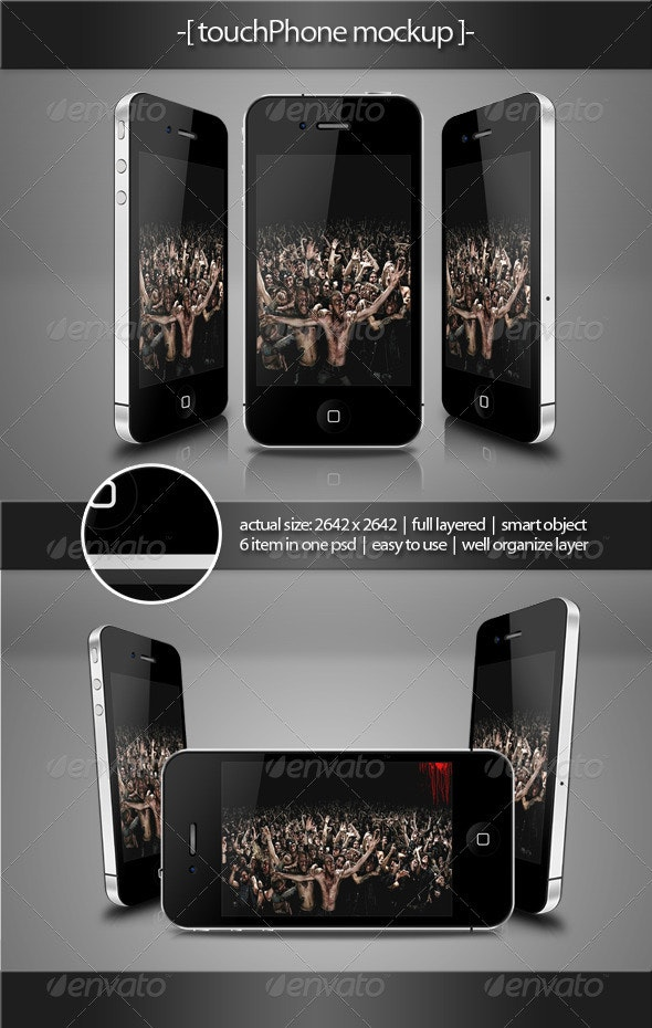 Touch Phone Mockup - Mobile Displays