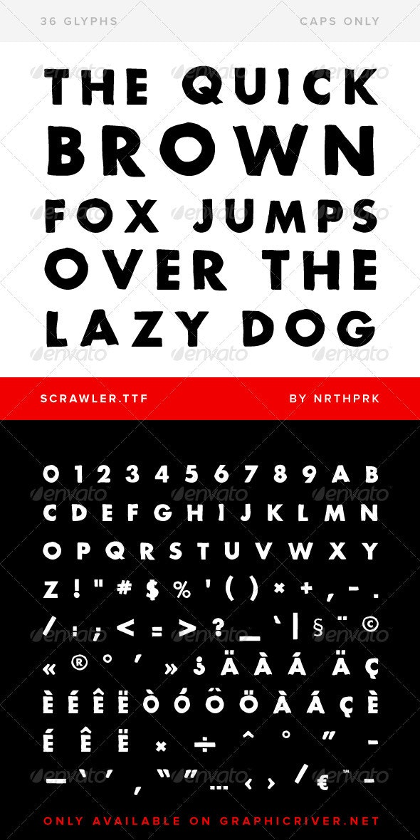Scrawler TrueType Font