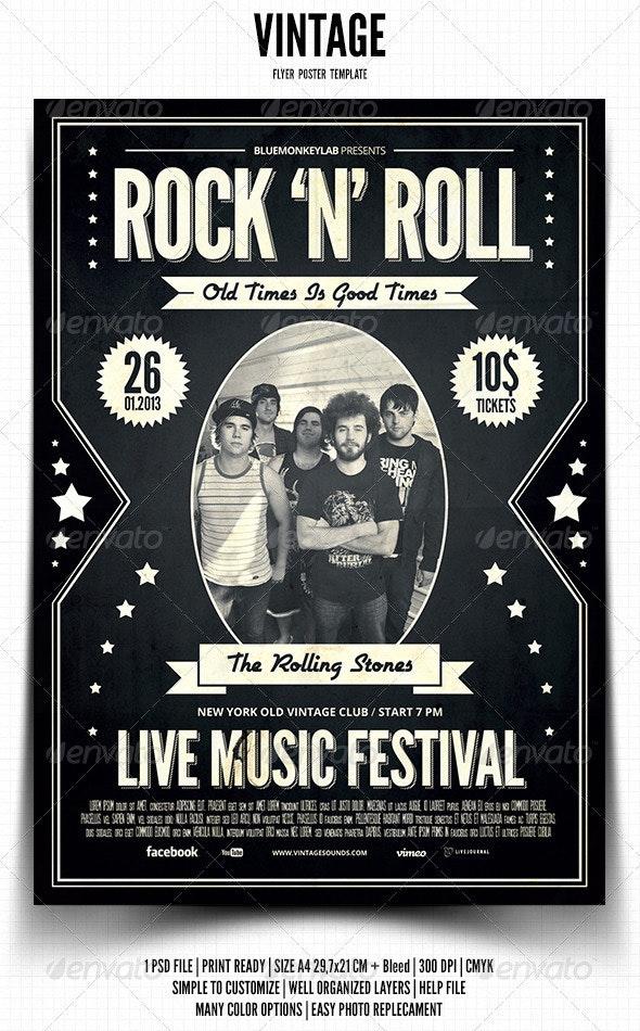 Vintage Flyer / Poster 3 - Events Flyers