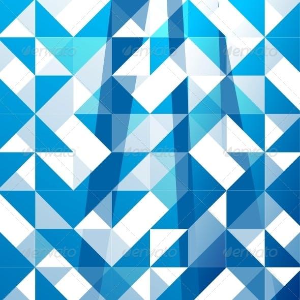 Blue Modern Geometric Design Background