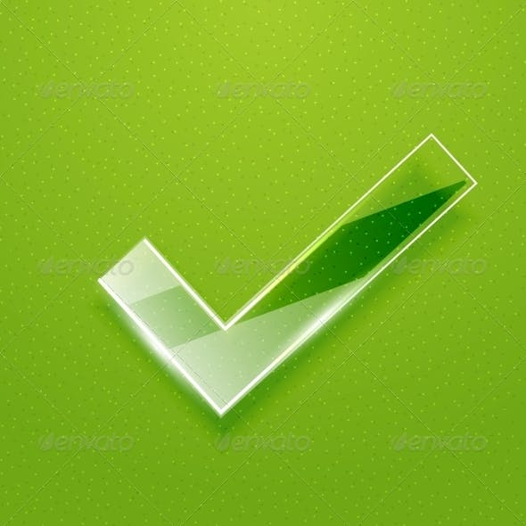 Check on Green Background