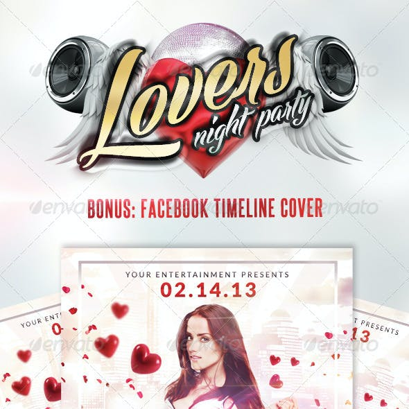 Lovers Night / Valentine´s Day  | Flyer + Fb Cover