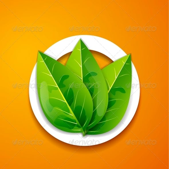 Nature Applique Background - Green Leaves