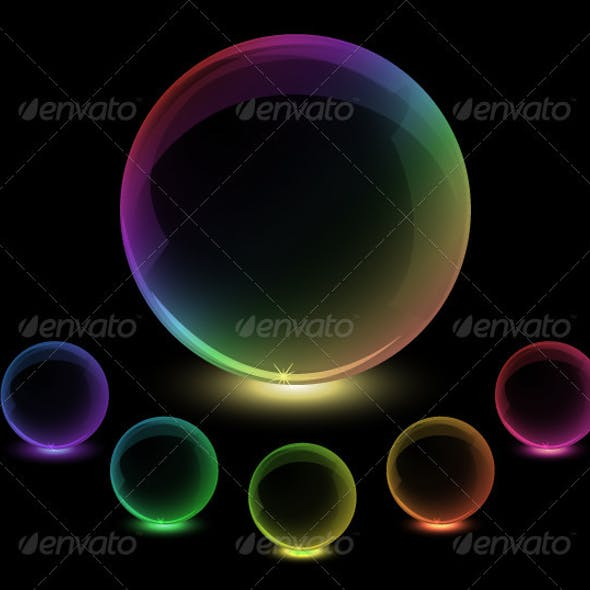 Colorful globes