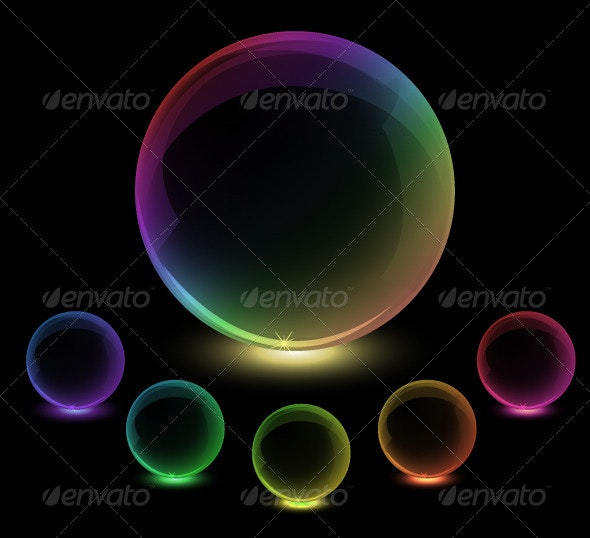 Colorful globes - Abstract Conceptual