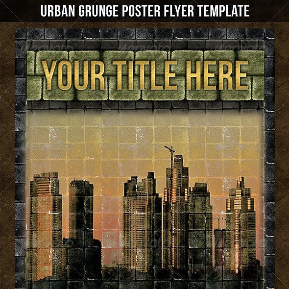 Urban Grunge Flyer Poster Template