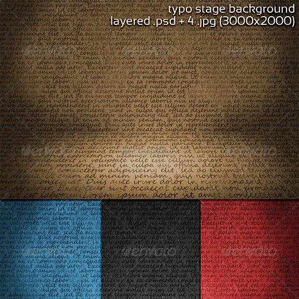 Typo Stage Background